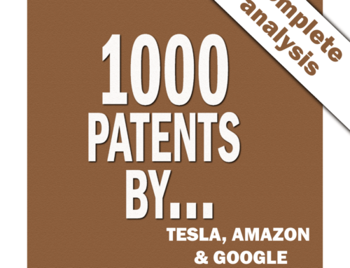 1000 x 3 patents by Tesla, Amazon and Google