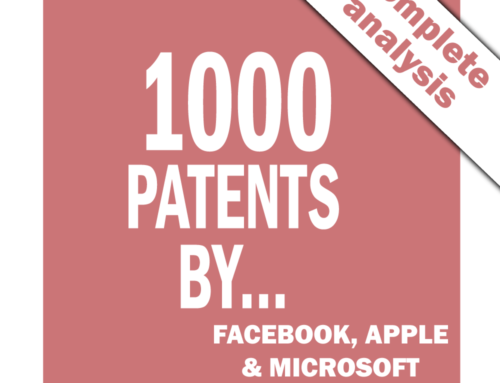 1000 x 3 patents by Facebook, Apple and Microsoft